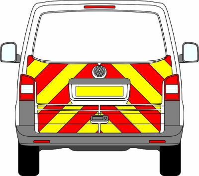 Volkswagen Transporter Tailgate Chevrons 2003 – 2015 (Half/Engineering)