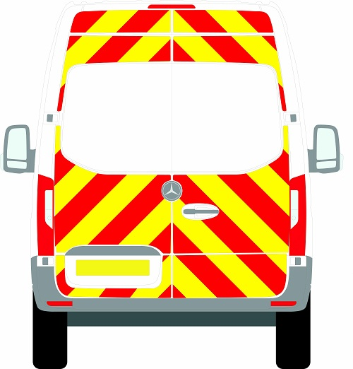 NEW Mercedes Sprinter H2 Chevrons High Roof Front Wheel Drive 2018 - Present (Three Quarter/Engineering) - Front Wheel Drive