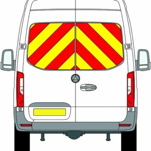 NEW Mercedes Sprinter H2 Chevrons High Roof Rear Wheel Drive 2018 - Present (Window Panels/Prismatic) - Rear Wheel Drive