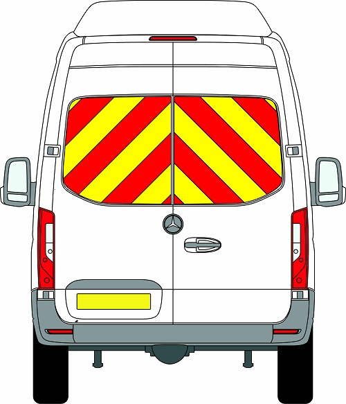 NEW Mercedes Sprinter H3 Chevrons Super High Roof Rear Wheel Drive 2018 - Present (Window Panels/Engineering) - Rear Wheel Drive