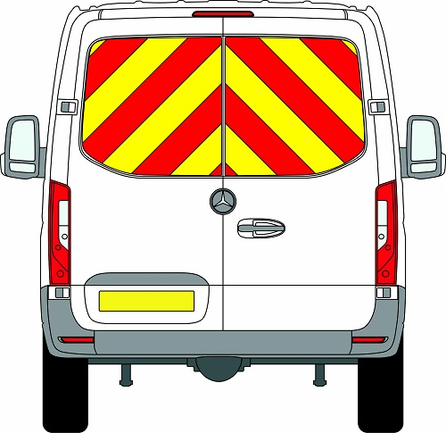 NEW Mercedes Sprinter H1 Chevrons Standard Roof Rear Wheel Drive 2018 - Present (Window Panels/Engineering) - Rear Wheel Drive