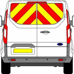 Ford Transit Custom H1 Chevrons Low Roof 2012 - Present (Window Panels/Prismatic)