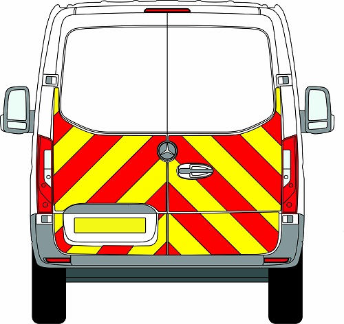 NEW Mercedes Sprinter H1 Chevrons Standard Roof Front Wheel Drive 2018 - Present (Half/Engineering) - Front Wheel Drive