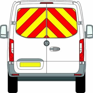 NEW Mercedes Sprinter H1 Chevrons Standard Roof Front Wheel Drive 2018 - Present Window Panels/Engineering) - Front Wheel Drive