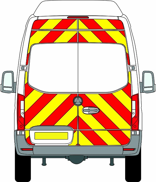 NEW Mercedes Sprinter H3 Chevrons Super High Roof Rear Wheel Drive 2018 - Present (Three Quarter/Prismatic) - Rear Wheel Drive