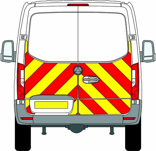 NEW Mercedes Sprinter H1 Chevrons Standard Roof Rear Wheel Drive 2018 - Present (Half/Engineering) - Rear Wheel Drive