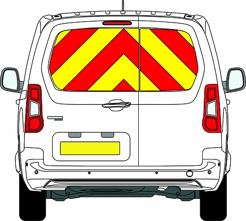 NEW Vauxhall Combo Chevrons 2019 - Present (Window Panels/Prismatic)