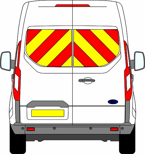 Ford Transit Custom H2 Chevrons Medium Roof 2012 - Present (Window Panels/Prismatic)