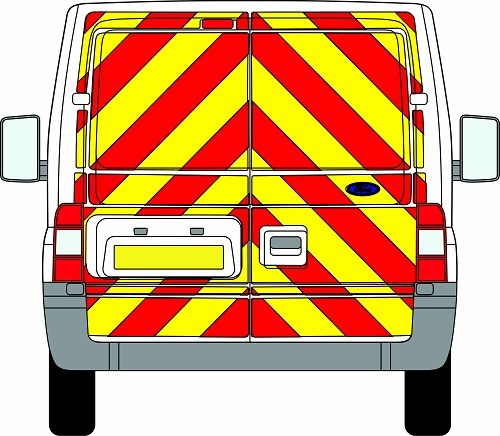 Ford Transit Chevrons Standard Roof 2006 - 2014 (Full/Prismatic)