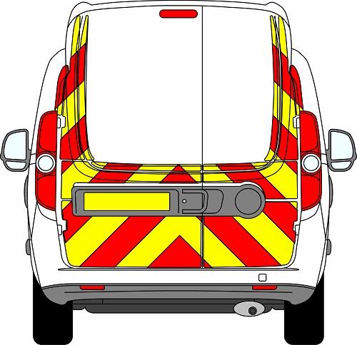 Fiat Doblo H3 Chevrons High Roof 2010-Present (Three Quarter/Engineering)