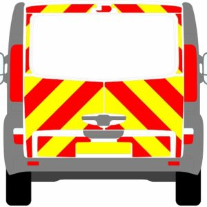 Vauxhall Vivaro Tailgate Chevrons 2001 - 2014 (Three Quarter/Engineering)