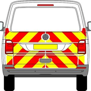 Featured Product Volkswagen Transporter Tailgate Chevrons 2015 - Present (Half/Prismatic)