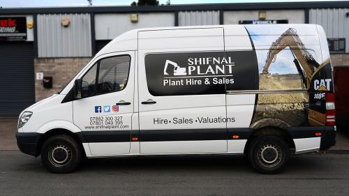 Van Graphics Shifnal Plant Hire and Sales